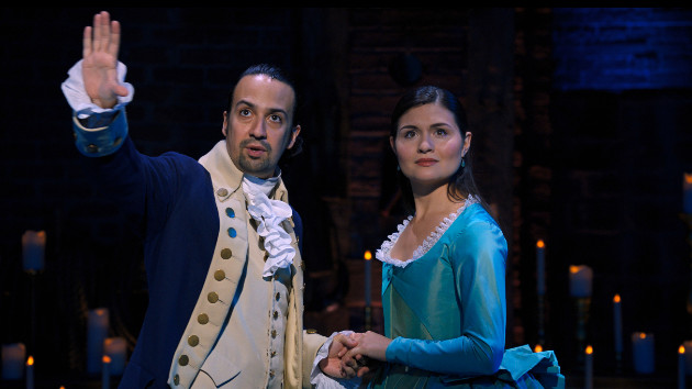 "Miranda, Phillipa Soo in ""Hamilton""/Disney+"