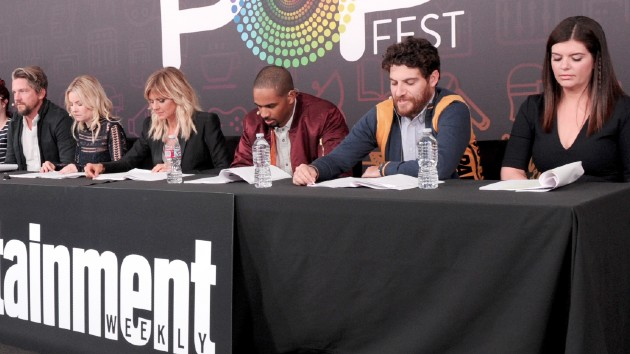 L-R - Knighton, Cuthbert, Coupe, Wayans, Pally, Wilson -- Emma McIntyre/Getty Images for Entertainment Weekly