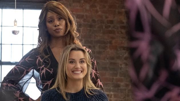 "L-R - Laverne Cox, Taylor Schilling in ""Orange is the New Black"" - Jojo Whilden/Netflix"