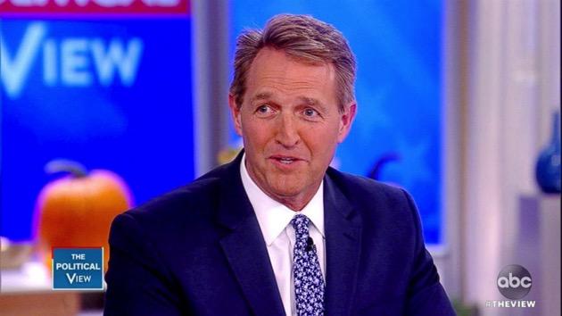 "Senator Jeff Flake appears on ""The View,"" Oct. 23, 2018. - ABC News"