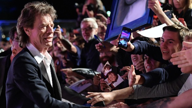 Mick Jagger with fans at 2019's Venice Film Festival - ALBERTO PIZZOLI/AFP via Getty Images