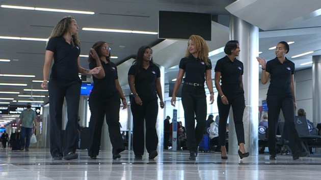 """Sisters of the Skies (SOS) says their mission is to """"develop pathways and partnerships to increase the number of black women in the professional pilot career field."""" - (ABC News)"""