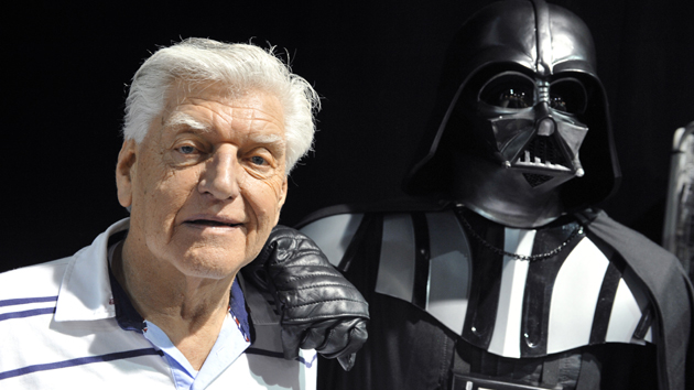Dave Prowse in 2013; THIERRY ZOCCOLAN/AFP via Getty Images