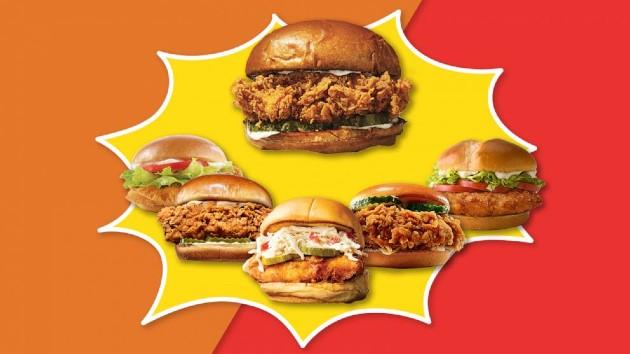 ABC Photo Illustration / Popeyes, McDonald's, Burger King, Wendy's, Chick-fil-A, Shake Shack