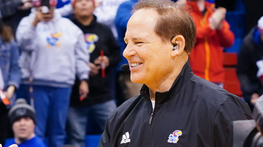 Les Miles during College GameDay in January 2020 (Photo by Joe Faraoni / ESPN Images)