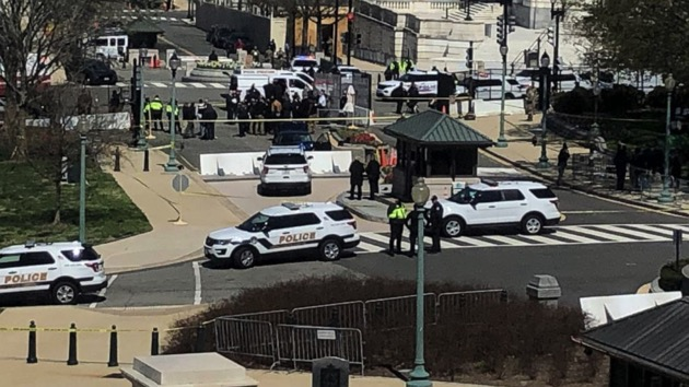 One officer killed after driver rams into US Capitol barricade