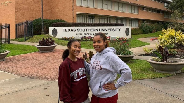 (Photo Courtesy: Jerica Phillips) Jerica Phillips poses with her daughter Jaidah during a campus visit to Texas Southern University. Jerica Phillips Jerica Phillips poses with her daughter Jaidah during a campus visit to Texas Southern University.