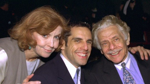 Ben Stiller with parents Anne Meara and Jerry Stiller in 1996/Richard Corkery/NY Daily News Archive via Getty Images